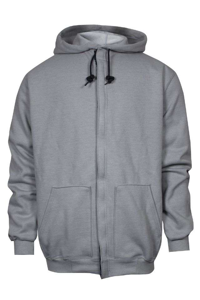 NSA FR Heavyweight Hooded Zip-Front Sweatshirt - Gray