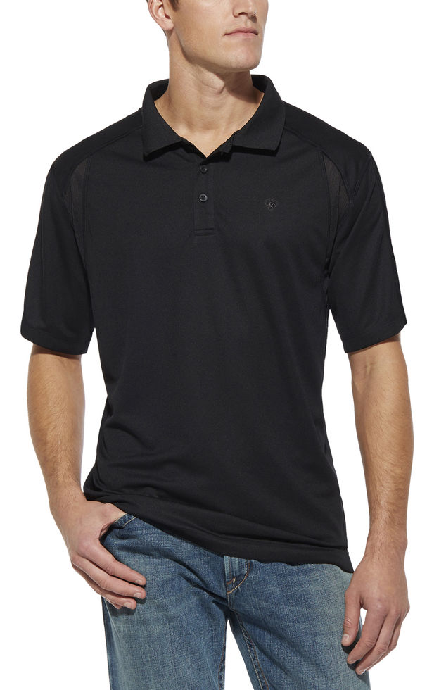 Ariat AC Tek  Polo S/S Shirt - Black
