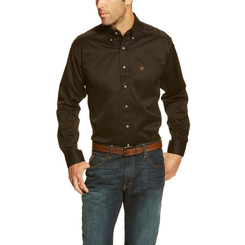 Ariat SolidTwill L/S Shirt - Black