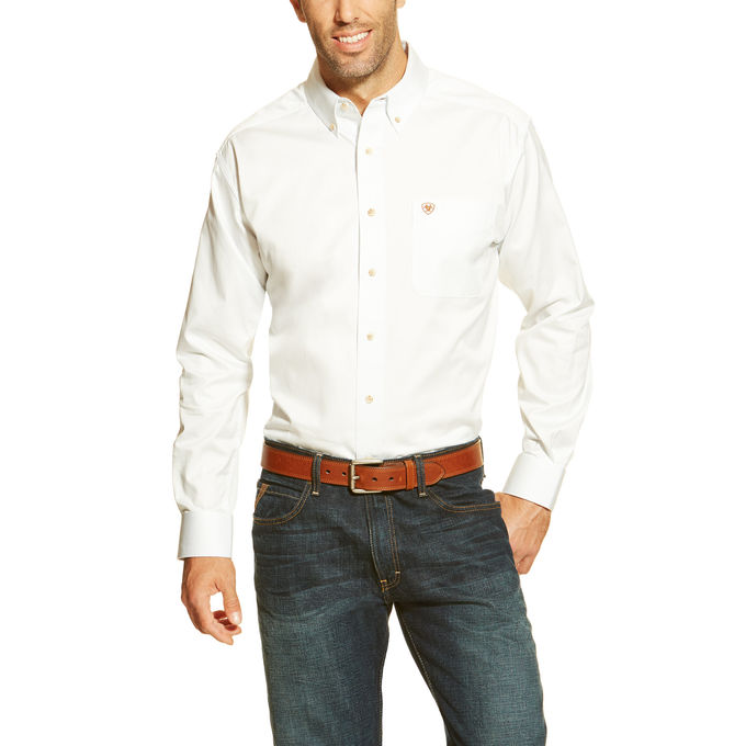 Ariat Solid Twill L/S Shirt - White