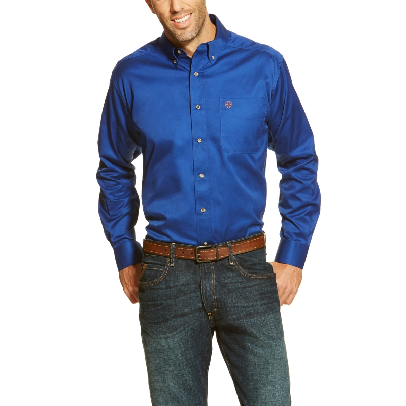 Ariat Solid Twill L/S Shirt - Ultramarine