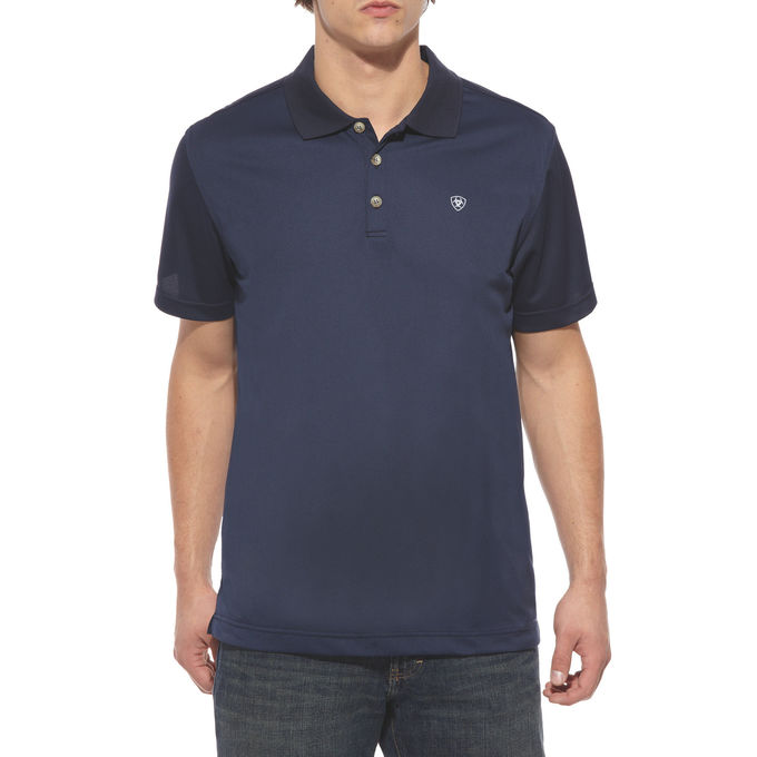 Ariat Tek Polo S/S Shirt- Navy