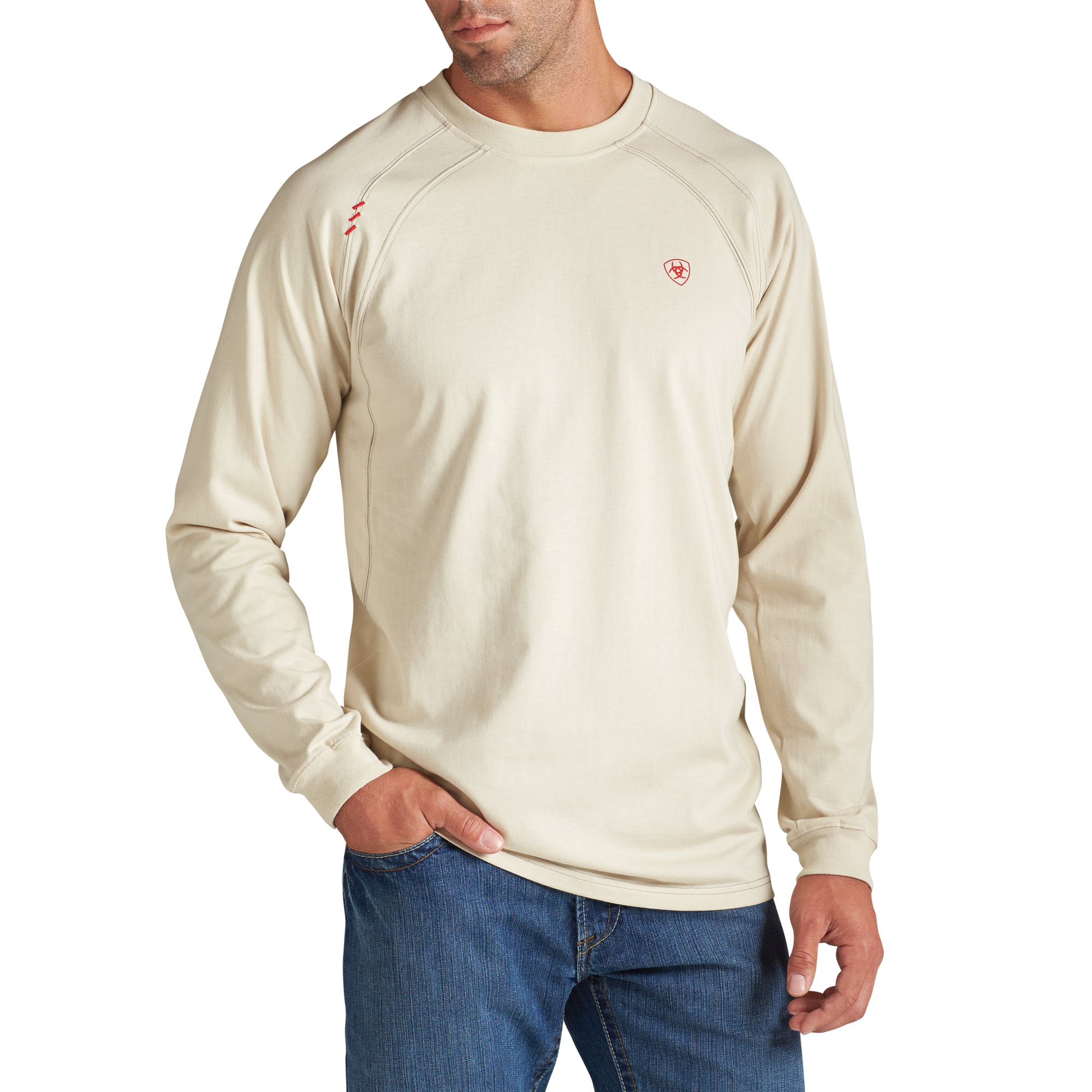 Ariat FR Work Crew, Long Sleeve - Sand