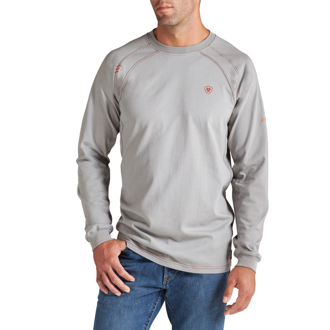 Ariat FR Work Crew, Long Sleeve - Silver Fox