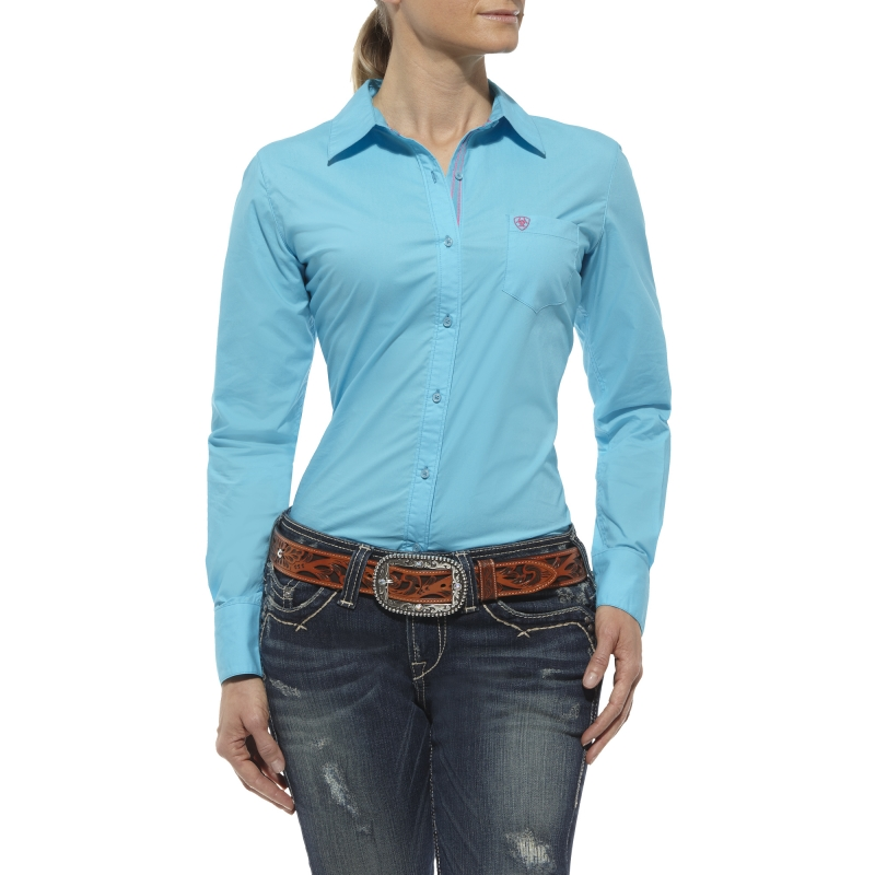 Ariat Women's Kirby Button Front L/S Shirt - Endless Turquoise