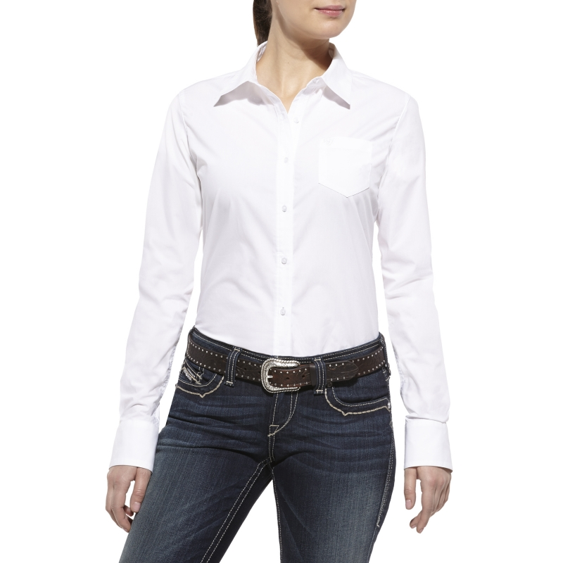 Ariat Women's Kirby Button Front L/S Shirt - White