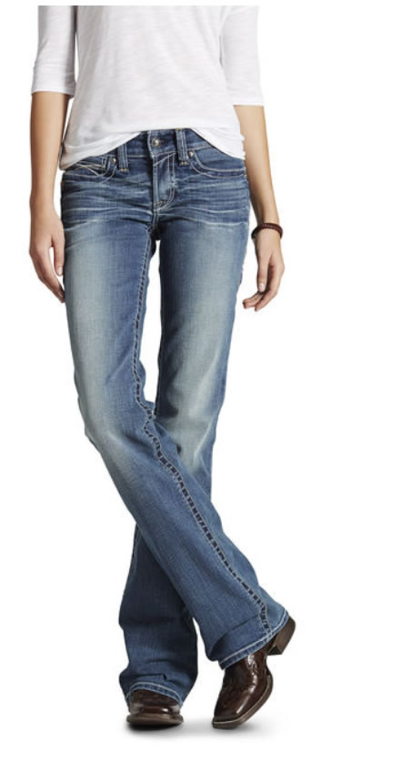 Ariat Women's Real Riding Whipstitch Jean - Rainstorm