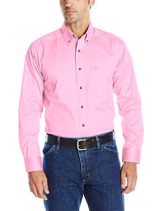 Ariat Solid Twill L/S Shirt - Prisim Pink