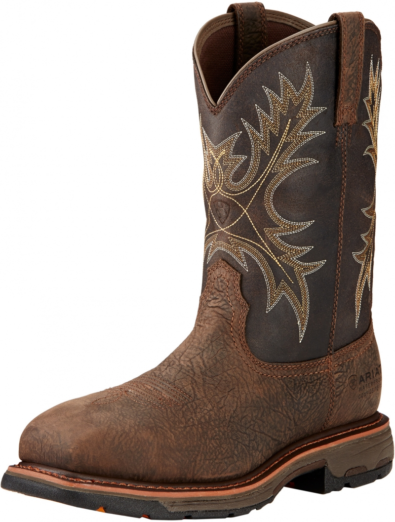 Ariat WORKHOG Pull-On Wide Square Toe C/T WP
