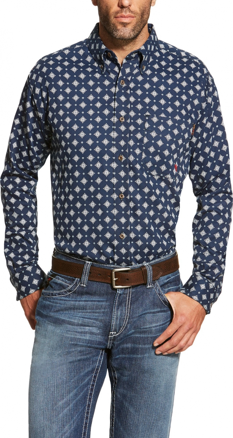 Ariat FR Rig Work Shirt - Navy
