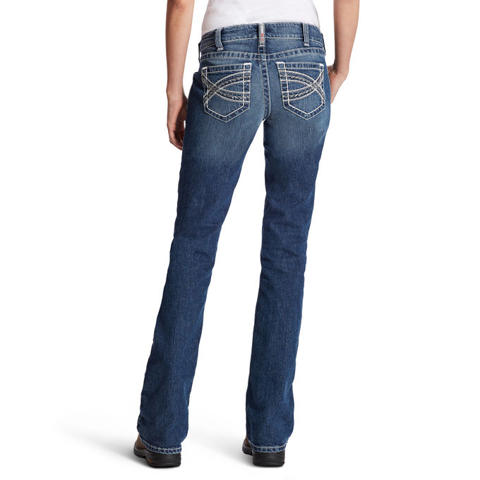 Ariat Women's FR Mid Rise Boot Cut Entwined Jean- Oceanside
