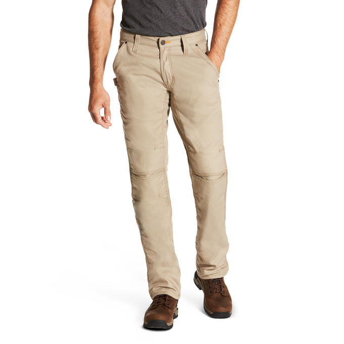 Ariat Relaxed Fit Boot Cut Rebar M4 Workhorse Pant - Khaki