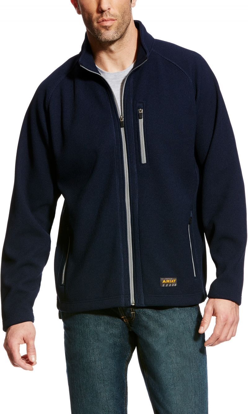 Ariat Rebar Duratek Fleece Jacket - Navy