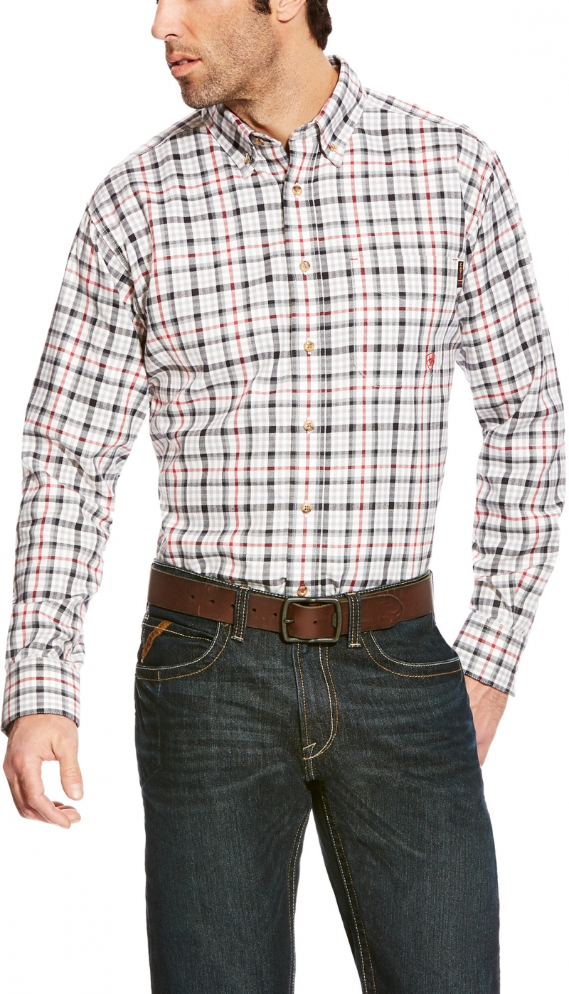 Ariat FR Briggs Work Shirt-Gray Multi
