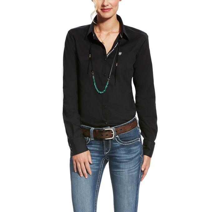 Ariat Women's Kirby Stretch Button Front L/S Shirt - Black