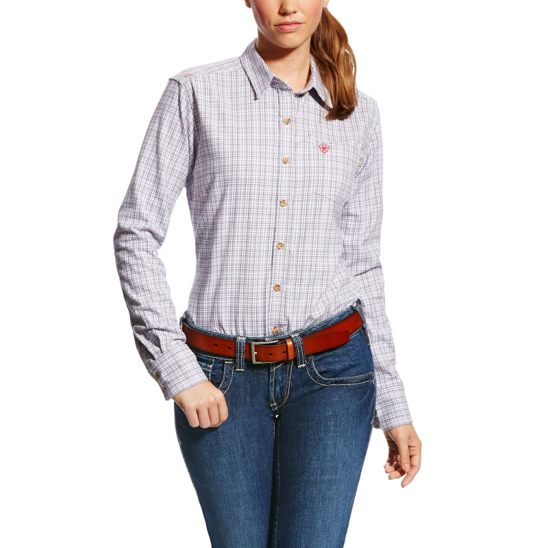 Ariat FR Marion Shirt-Purple Noon