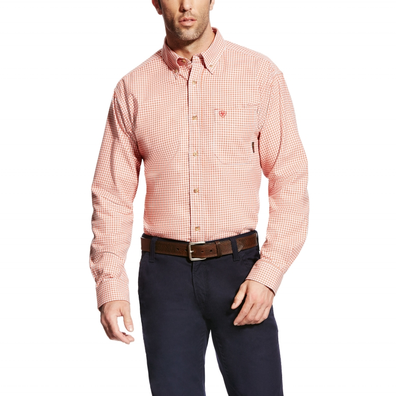 *Ariat FR Logan Work Shirt - Red Clay