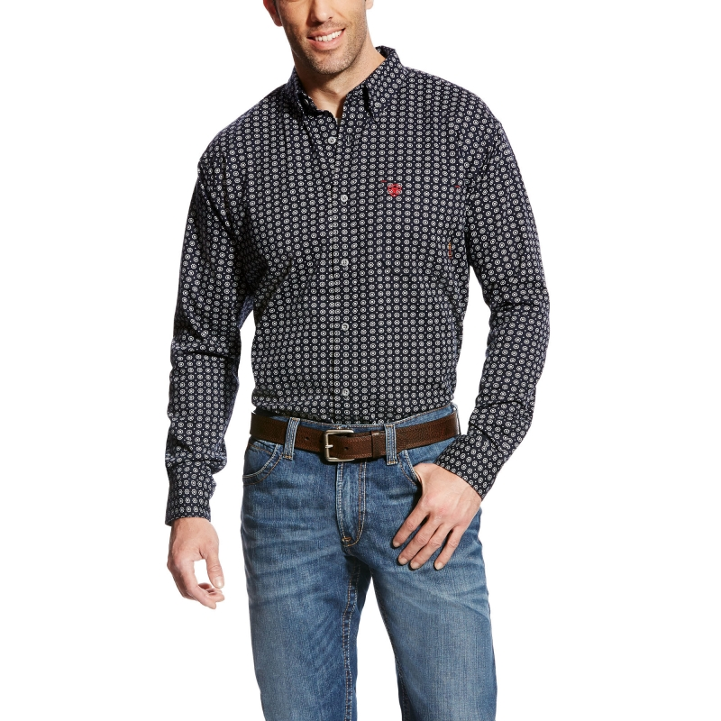 *Ariat FR Stark Work Shirt - Black Multi