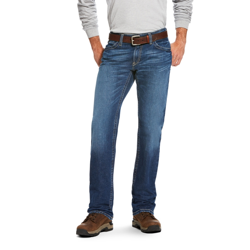*Ariat FR M4 Stitched Incline Titanium Jean
