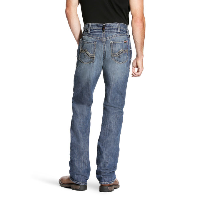 Ariat FR M4 Relaxed Fit Boot Cut Cody Stitch Pocket Jeans - Glacier