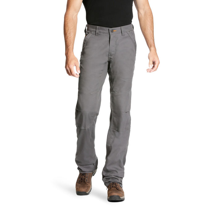 Ariat Relaxed Fit Boot Cut M4 Durastretch Canvas Utility Pant - Rebar Grey