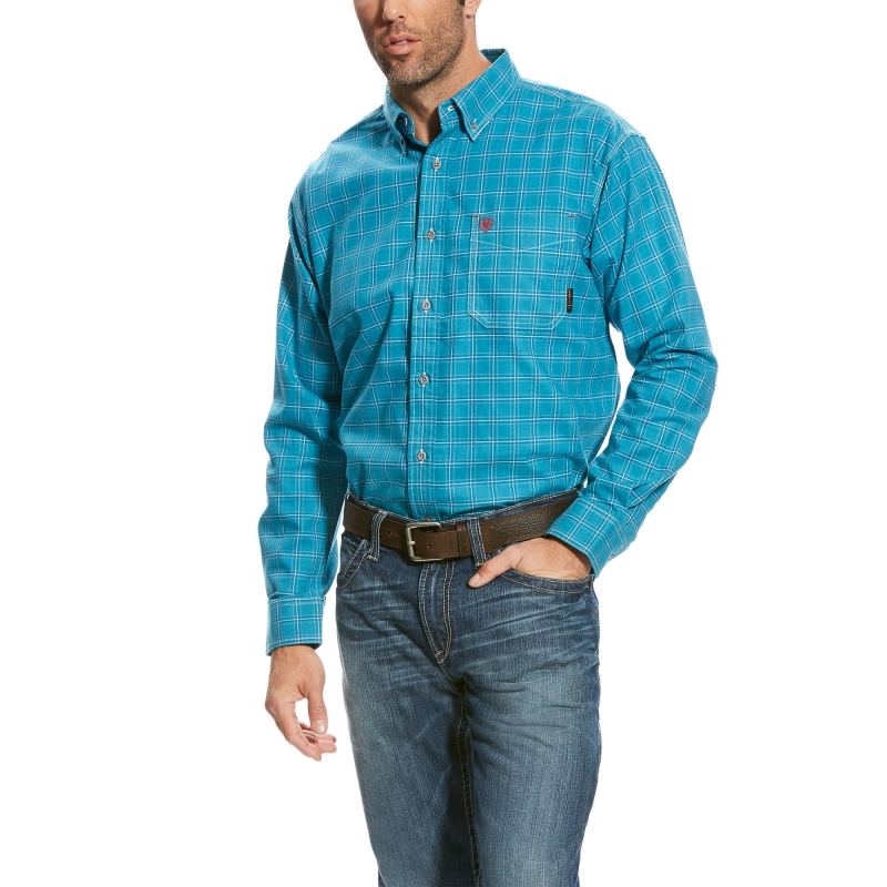 Ariat FR Button Front Kody Work Shirt - Multi