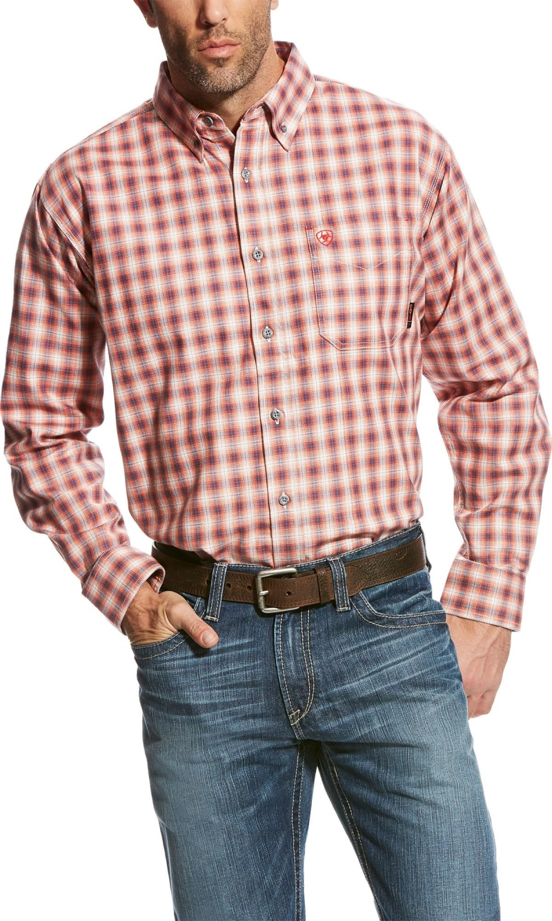 Ariat FR Button Front Lundy Work Shirt - Multi