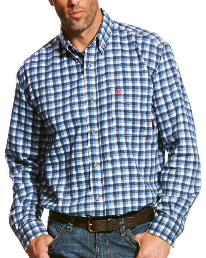 Ariat FR Button Front Santa Fe Work Shirt - Multi