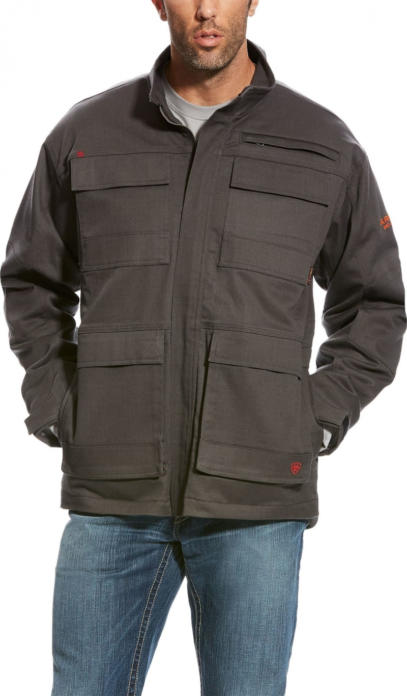 Ariat FR Canvas Stretch Jacket - Dark Gray