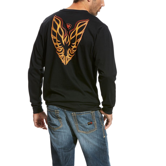 Ariat FR Firebird Graphic Crewneck L/S Shirt - Black