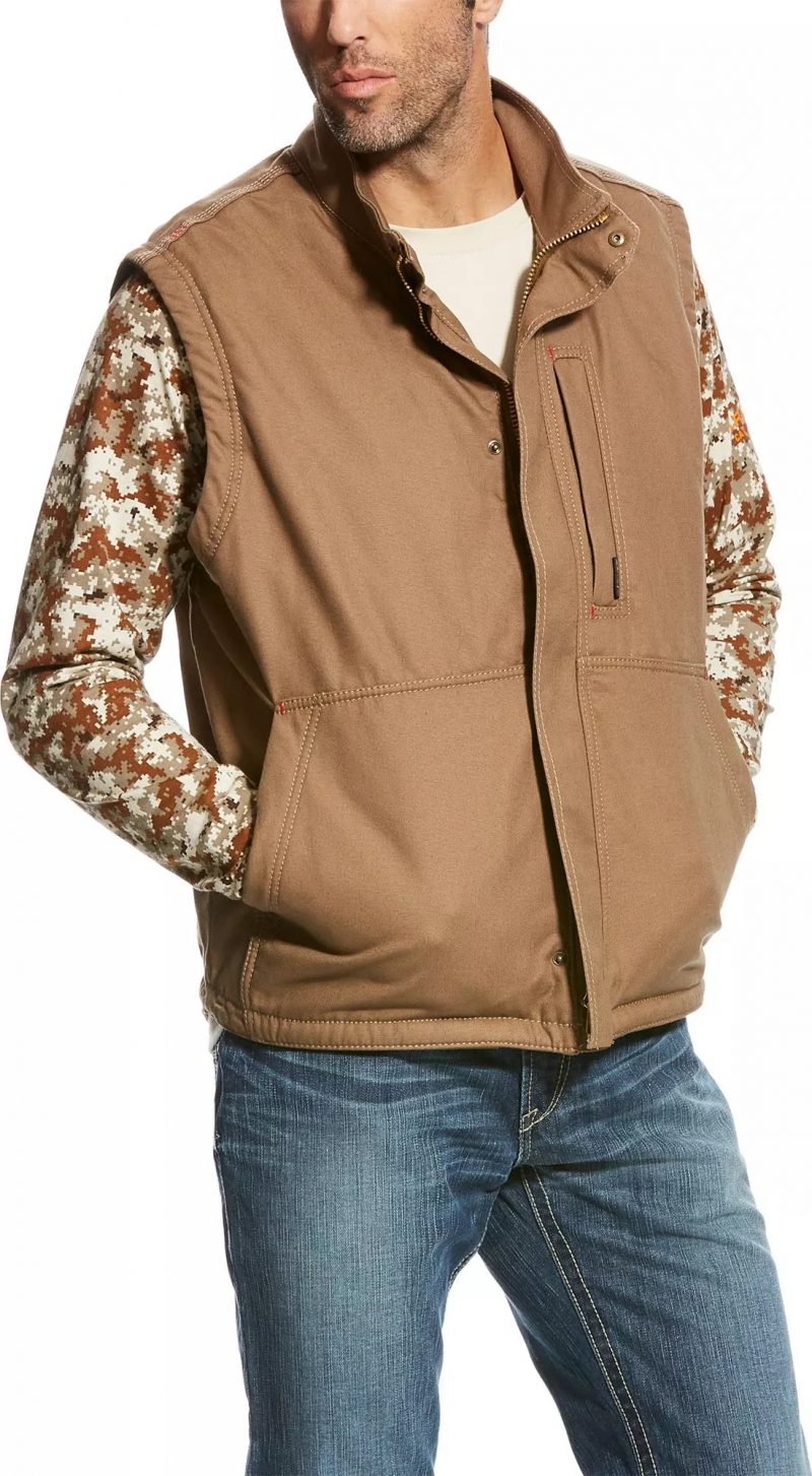 Ariat FR Workhorse Vest - Field Khaki