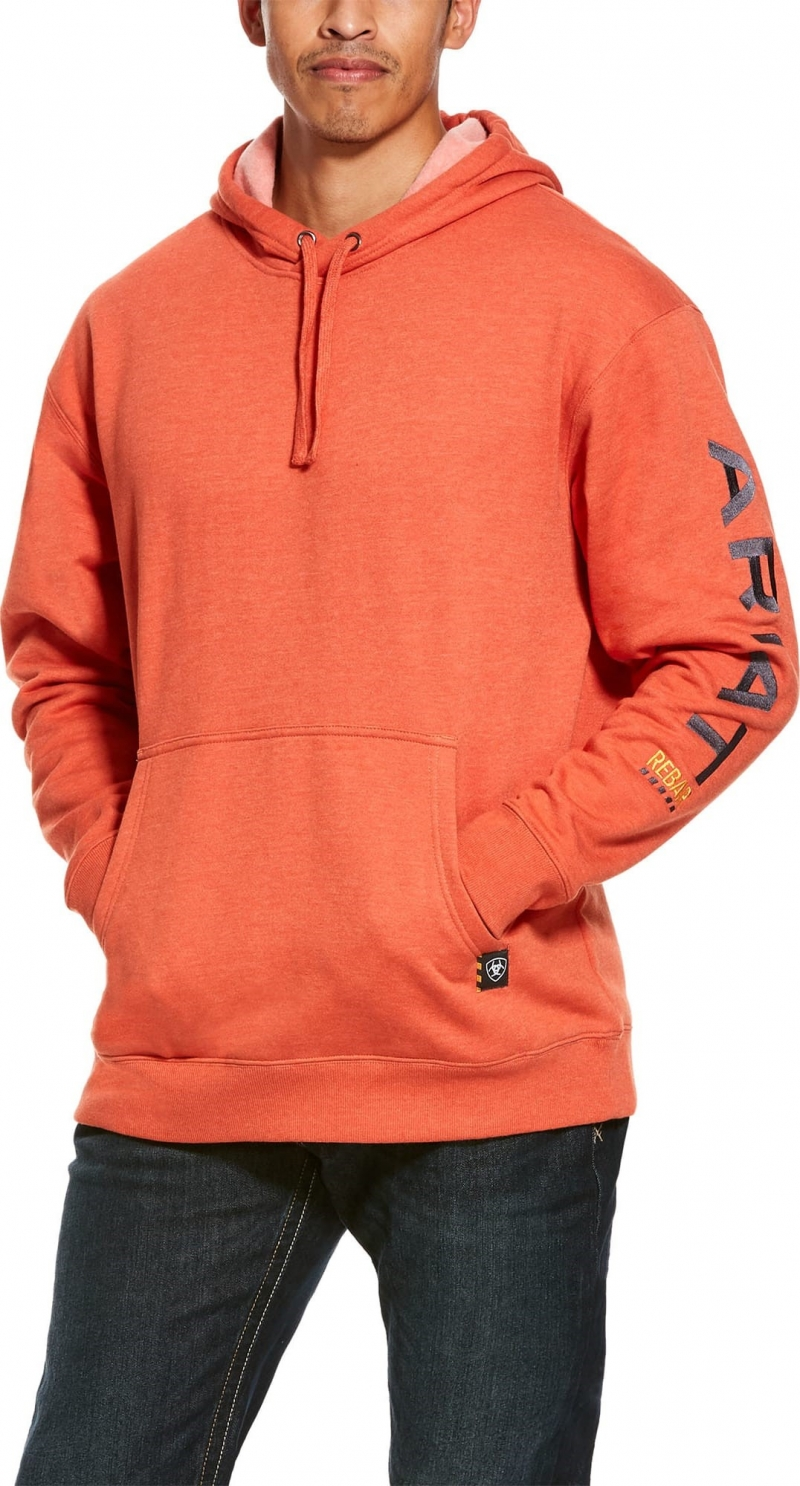 Ariat Rebar Graphic Pullover Hooded Sweatshirt - Volcanic Heather