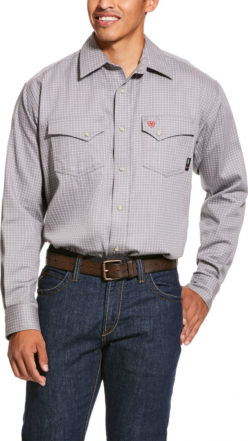 Ariat FR Snap Front Petro L/S Work Shirt