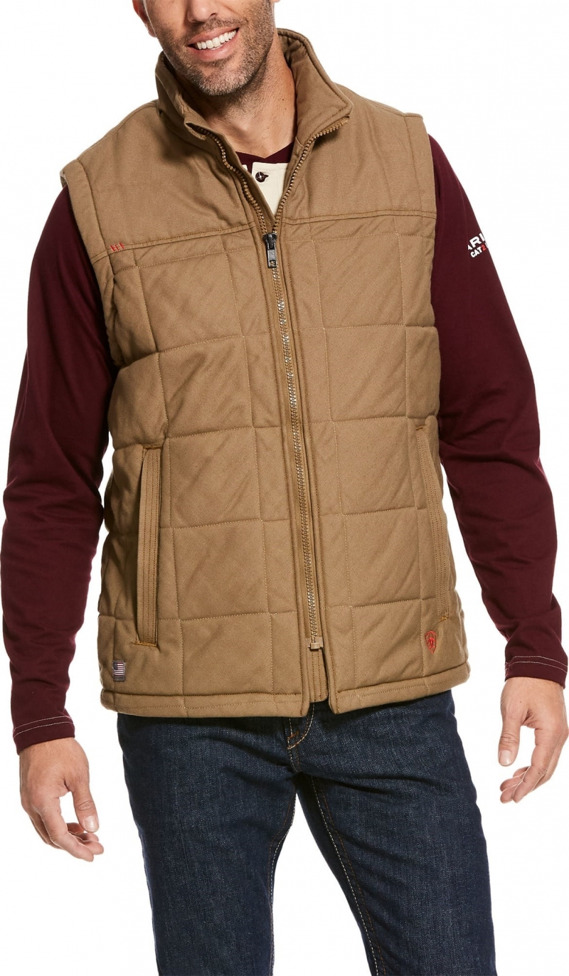 Ariat FR Crius Insulated Vest - Khaki