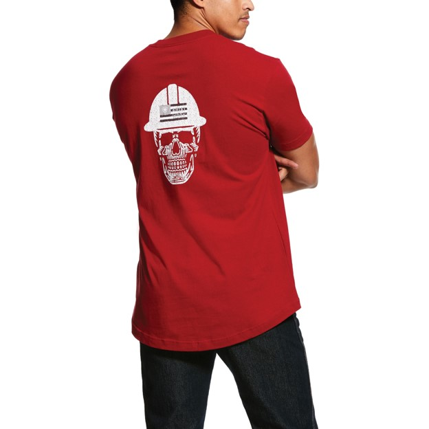 Ariat Rebar Cottonstrong Roughneck S/S T-Shirt - Rio Red