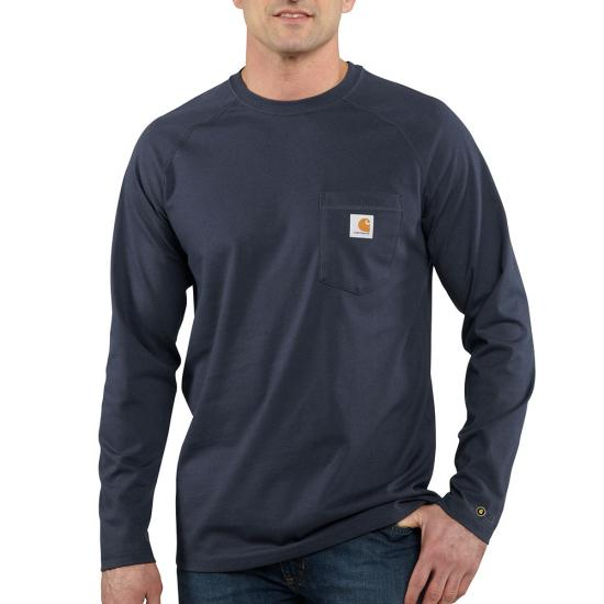Carhartt Force® Cotton Delmont Crewneck Pocket L/S Shirt