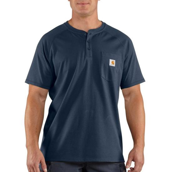 Carhartt Force® Cotton Henley Pocket S/S Shirt