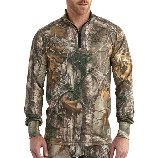 Carhartt Base Force® Extremes Cold Weather Camo Quarter Zip
