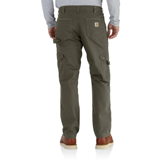 Carhartt Relaxed Fit Straight Leg Ripstop Cargo Flannel Lined Work Pant