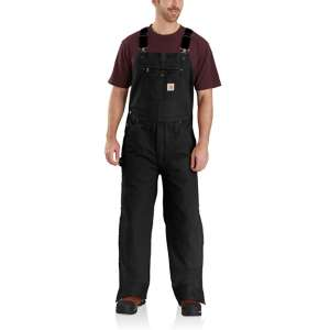 Carhartt Quilt Lined Washed Duck Bib Overalls