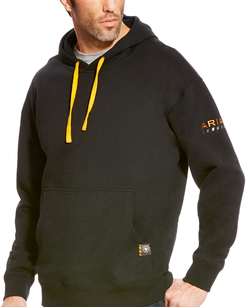 Ariat Rebar Workman Pullover Hooded Sweatshirt - Black