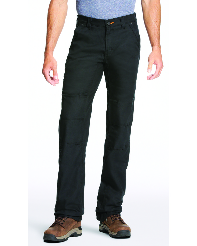 Ariat Relaxed Fit Boot Cut Rebar M4 Stretch Canvas Utility Pant - Black