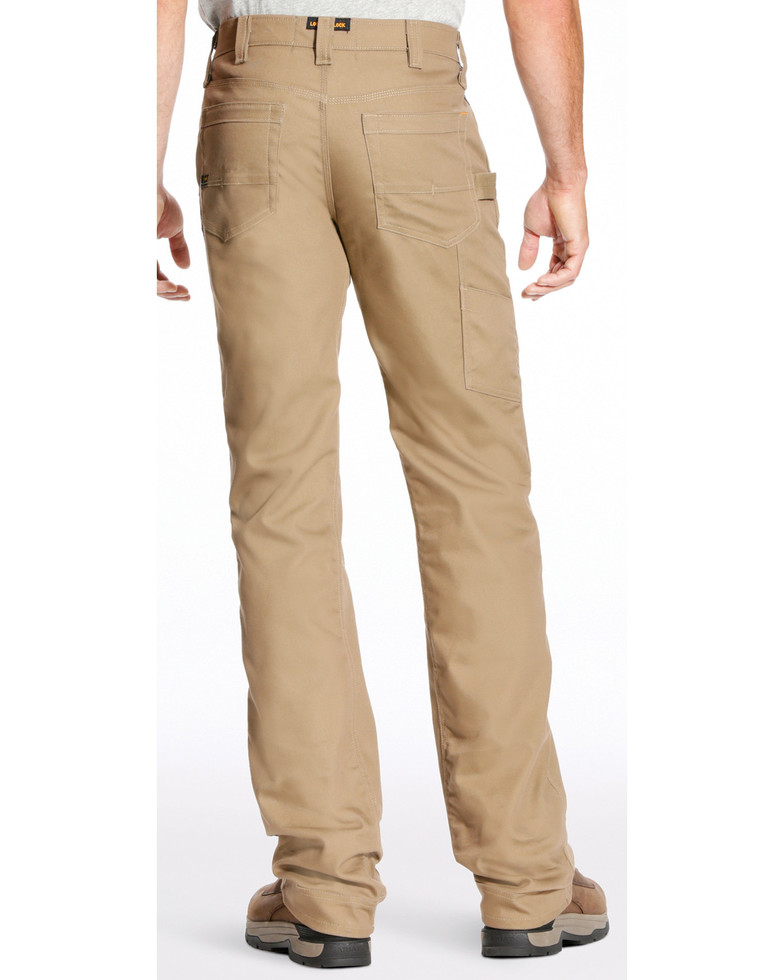 Ariat Relaxed Fit Boot Cut Rebar M4 Stretch Canvas Utility Pant - Khaki