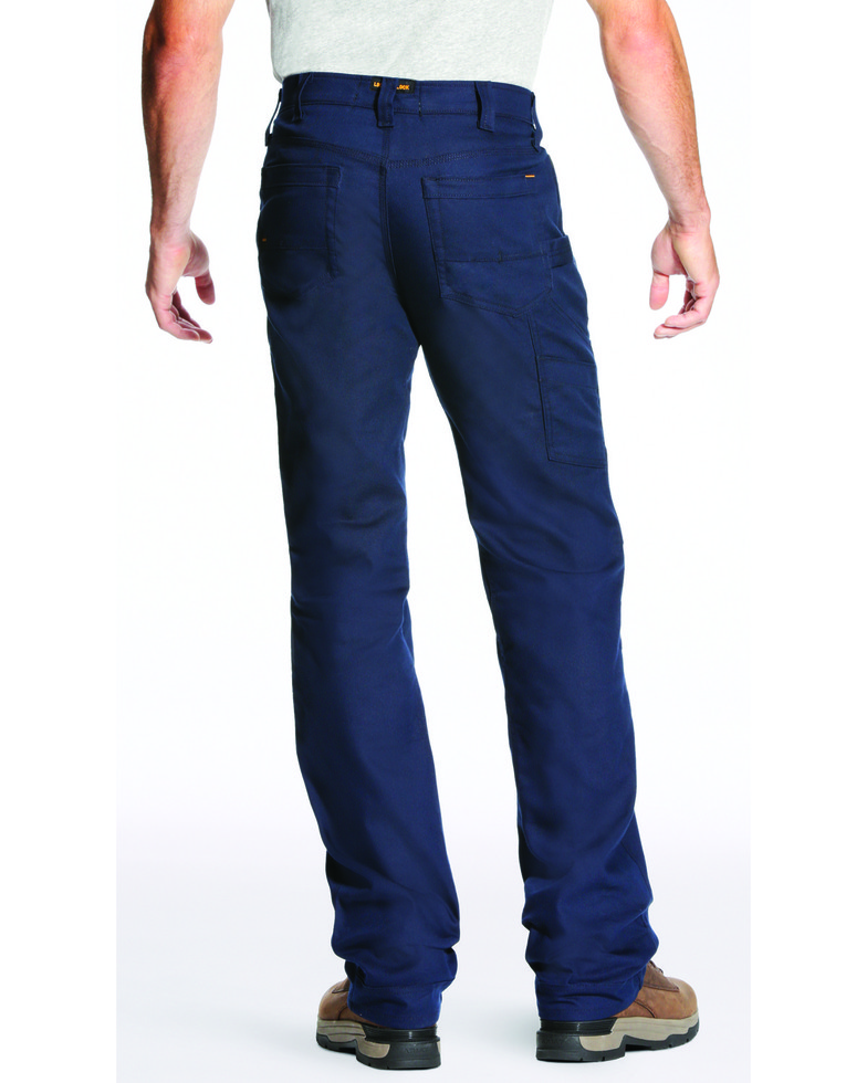 Ariat Relaxed Fit Boot Cut Rebar M4 Stretch Canvas Utility Pant - Navy