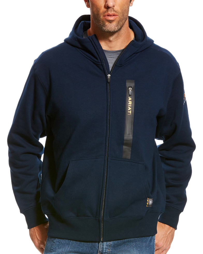 Ariat Rebar Workman Full Zip Hooded Sweatshirt - Navy