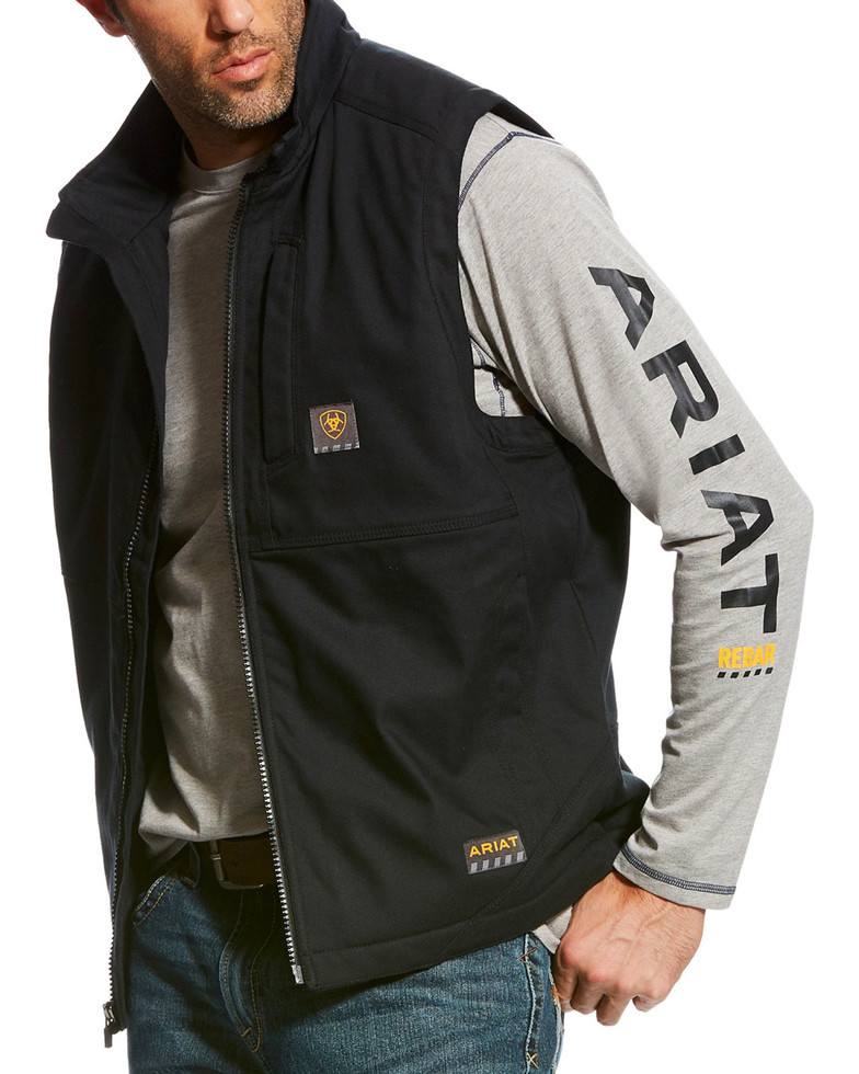 Ariat Rebar Duracanvas Vest - Black