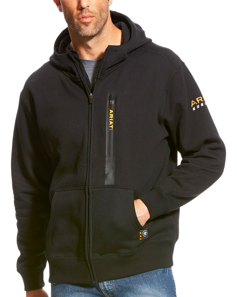 Ariat Rebar Workman Full Zip Hooded Sweatshirt - Black