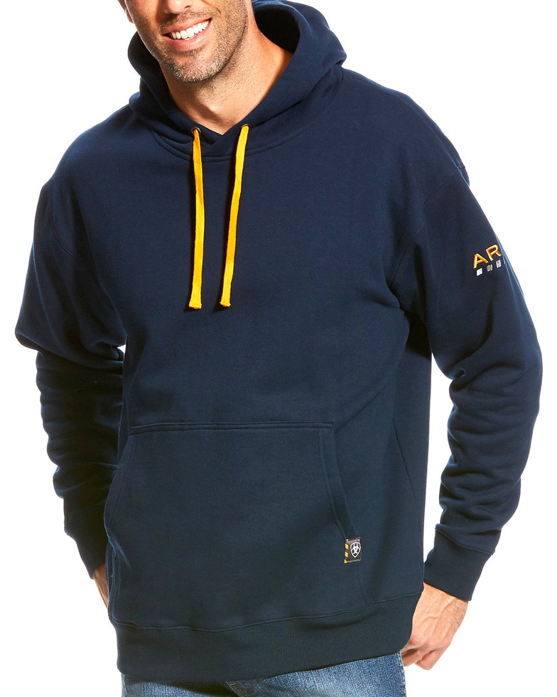 Ariat Rebar Workman Pullover Hooded Sweatshirt - Navy
