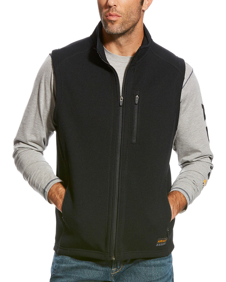 Ariat Rebar Duratek Fleece Vest - Black