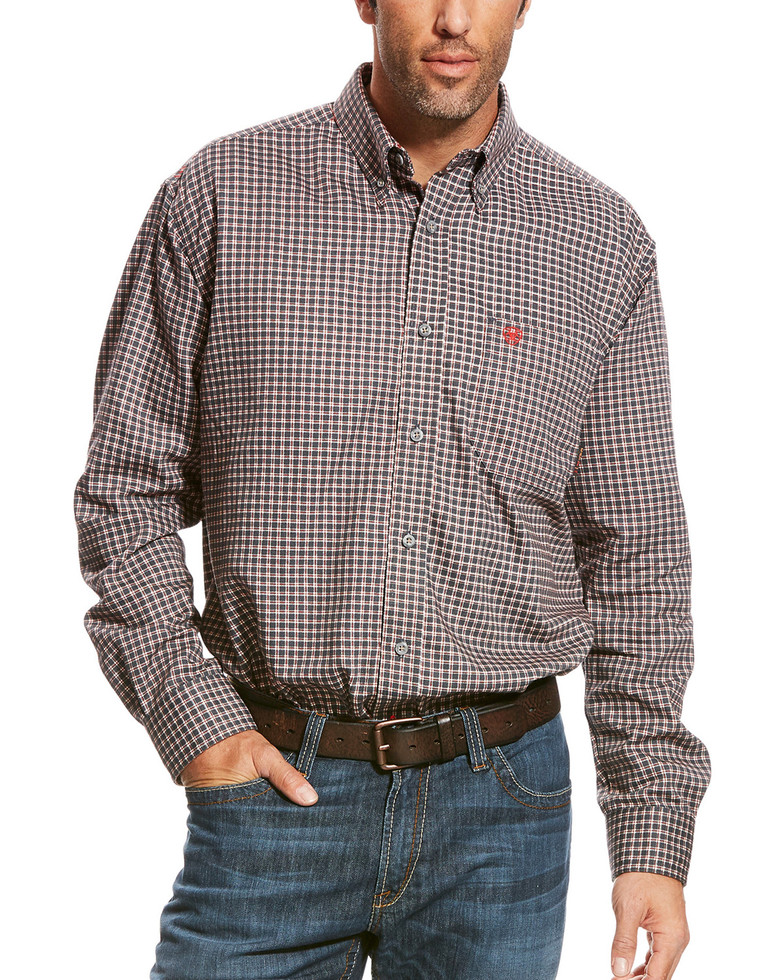 Ariat FR Button Front Optimus Work Shirt - Grey